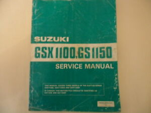 Suzuki Gsx1100 Gs1150 Service Repair Manual 1 By Marisol Spritzer Issuu