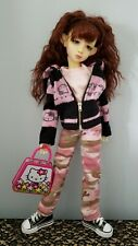 Hello kitty Hoodie Clothing Set Msd Bjd Kaye Wiggs Doll 18inches Or Similar Size