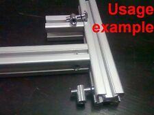 Aluminum T-slot profile center 90deg angle anchor pin connector 30x30-8mm, 4-set