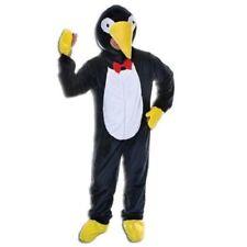 "Mens Ladies Big Head Penguin Mascot Fancy Dress Costume Size Upto 44"" Inch"