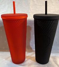 Starbucks 2020 Studded Holiday Tumbler, 24oz - Matte Red