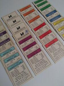 1961 Monopoly Parker Bros. 28 Original Property Deed Cards