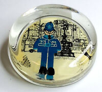 Rare and scarce Vintage Glass paperweight from London England, Piccadilly Circus