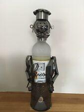 Metal Wine Bottle Holder 'Bradley The Chef' Boxed