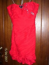 BEAUTIFUL WOMENS SHORT RED ROSE DRESS SIZE 12, MacDuggal COUTURE RV $420.00  FS