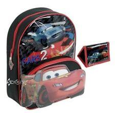 Boys Disney Cars 2 Mcqueen 3D School Backpack Bag & Matching Wallet