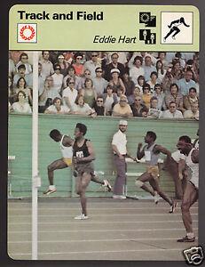 EDDIE HART USA 100m Sprinter Running Track & Field 1979 SPORTSCASTER CARD 54-07A