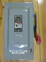 USED Siemens HF361 Safety Switch 30A 3P 600V 3W Fused HD Type 1
