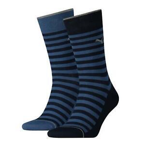 Puma Mens Socks Classic Stripe Cotton Sports Crew Sock (2 Pair Pack) UK 6-14