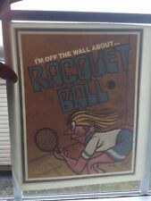 Vintage Racquetball Iron-On Transfer