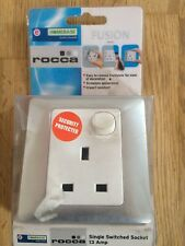 ROCCA FUSION SINGLE SWITCHED WALL SOCKET 13 AMP SILVER/WHITE 1