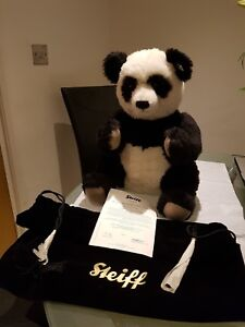 """STEIFF GIANT PANDA """"SU LIN"""" LIMITED EDITION WITH CERTIFICATE & BAG"""
