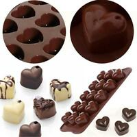 15 Silicone Ice Cube Chocolate Cake Jelly Tray Pan Heart Maker Mold Mould Shan