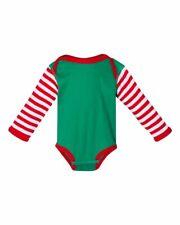 10 Rabbit Skins Infant Long Sleeve Creeper Cotton One Piece Bodysuit 4411 NB-18M