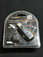 Zeikos ZE-SDR5 USB 2.0 SD/SDHC/MMC Card Reader/Writer (Black) BRAND NEW