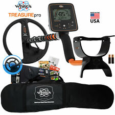 "Whites TreasurePro Metal Detector with 10"" DD Waterproof Search Coil, Carry Bag"