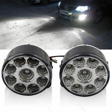 2X 9 LED DRL Car Fog Lamp Rear Front Driving Running Light Round 12V 4.5W White