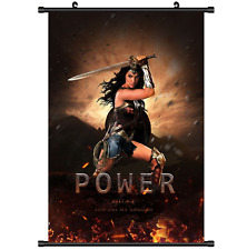 Anime Super Hero Wonder Woman Movie Wall Poster Scroll Home Decor Cosplay 2957