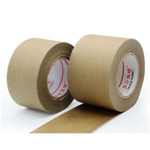 Wet Water Kraft Paper Tape Reinforced Gummed Kraft Paper Tape Water Activated