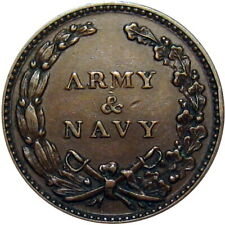 1863 Army & Navy Patriotic Civil War Token
