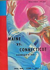 University Of Maine Vs Connecticut Homecoming Football Program Orono 10/16/1965