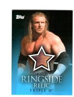 WWE Triple H 2009 Topps Ringside Relic Event Worn Shirt Card Yellow & Red