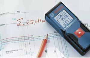 New Bosch Digital Laser Distance Measure Measuring Backlit Display GLM30 + Pouch