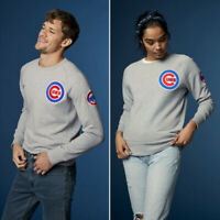 New Levis Unisex XS MLB Chicago Cubs Baseball Long Sleeve Embroidery Sweatshirt