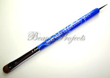 Nail Art Kolinsky French Brush #12 with Dotting Pen High Quality - Blue Marble