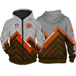 Cleveland Browns Hoodie Fan's Hooded Pullover Sweatshirt Casual Jacket