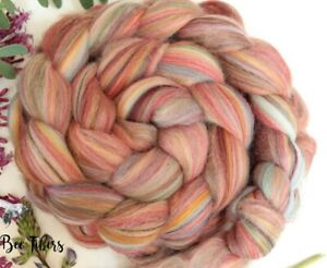 HOLLYBERRY - Merino Wool Roving Color Blend Combed Top Spinning Felting - 4 oz