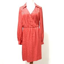 Trina Turk Wrap Dress 8 Red Animal Print Office Professional Casual Modest Knee