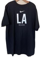 Nike + Run Club LA Shirt Black Tee Polyester Running Men's Size 2XL XXL Dri Fit