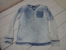 Shaun White Boys/Girls Long Sleeve Size Small Cotton Blend Blue & White Shirt
