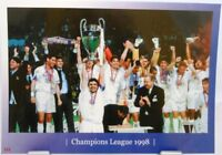 Real Madrid + Fußball Champions League 1998 Winner + Fan Big Card Edition A150 +