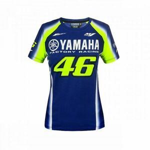 VR46 Official Valentino Rossi Dual Yamaha Womans Moto GP T Shirt YDWTS 314309