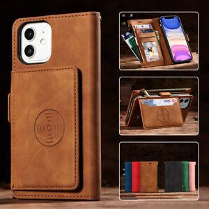 For iPhone 12 11 Pro/Max/Mini SE/8/7 Plus XR X/XS Case Leather Wallet Flip Cover