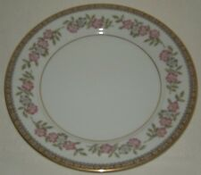 Noritake Cordell Four Salad Plates Floral with Gold Edge