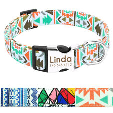 Nylon Customized Dog Collar Engraved for Small Medium Large Dogs Adjustable