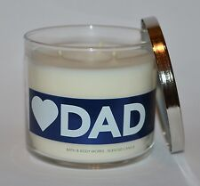 BATH & BODY WORKS LOVE HEART DAD SCENTED CANDLE 3 WICK 14.5 OZ LARGE MAHOGANY