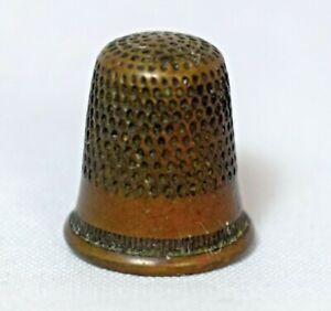Vintage Children's Copper Thimble