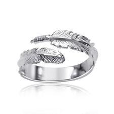 MATERIA Damen Ring Feder Silber 925 offen Gr. 51 - 60 größenverstellbar + Box