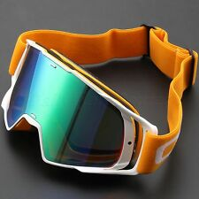100% Anti-UV Sunglasses Motocross Goggles White Frame Racing Cycling Glasses
