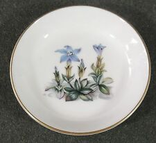 Royal Worcester Alpine Flowers Pin Trinket Dish Butter Pat Ashtray England EUC