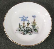 Royal Worcester Alpine Flowers Pin Trinket Dish Butter Pat Ashtray England EUC