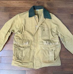 C.C. Filson Style 66 Sz 40 Wax Cotton Tin Cloth Oilskin Jacket Bird Hunting