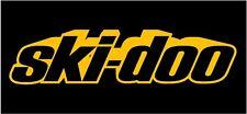 "SKI DOO 9"" DECAL Yellow Sticker Snowmobile Renegade MXZ Summit Truck Shadow Out"