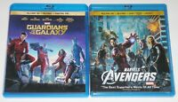 Action Blu-ray 3D Lot - Marvel Guardians of the Galaxy & Marvel's The Avengers