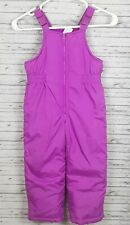 CARTER'S YOUTH GIRLS PURPLE SKI BIB OVERALLS PANTS CLOTHES M 5-6