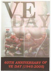 Niue - Sir Winston Churchill - Souvenir Sheet - 2005 MNH